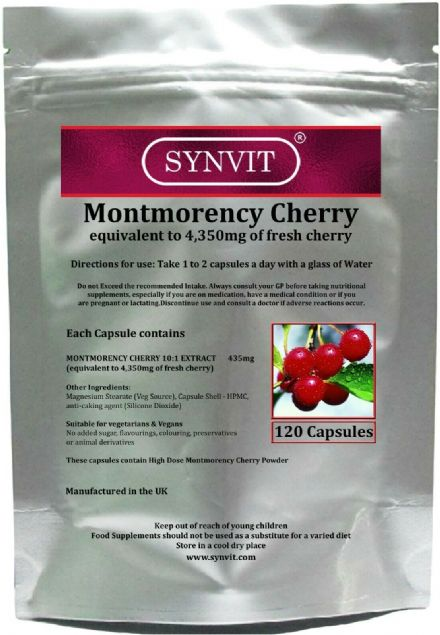 Montmorency Cherry 4350mg eq. x 120/360 Capsules; Synvit